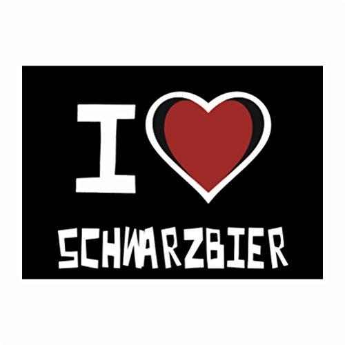 Teeburon I love Schwarzbier Sticker Pacchetto di 4