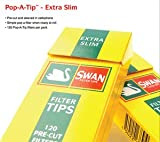 SWAN 600 Swan Extra Slim Filter Tips 5 Packs X 120 Tips