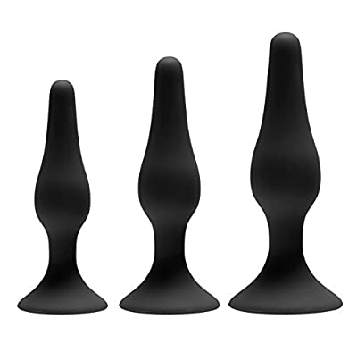 GreyGasms Black Silicone Apprentice Anal Trainer Set - 3-Piece