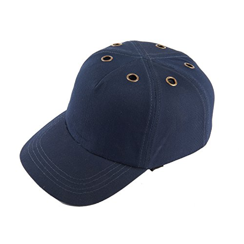Navy Blue Baseball Bump Cap Lightweight Safety Hard Hat Head Protection Cap With 6 Air Hole (Adjustable Hard Hat Insert compare prices)