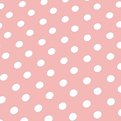 Wachstuch Tischdecke Wachstischdecke Gartentischdecke, Abwaschbar Meterware, Länge wählbar, Punkte Rosa Weiß (150-11) von MODERNO auf Gartenmöbel von Du und Dein Garten