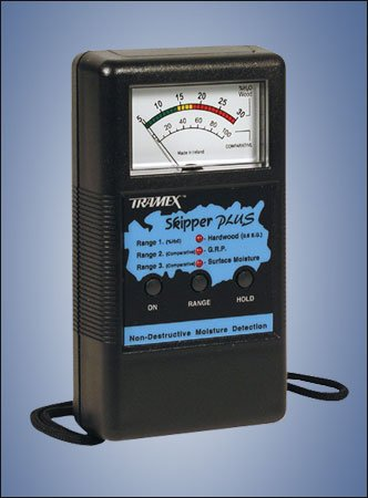 SMP Tramex Non-Destructive Skipper Plus Analog Marine Moisture Detector, Range: 5% to 30% on Hard Wood Moisture Content