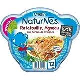 Nestlé Naturnes ratatouille agneau herbes de provence assiette 230g dès 12 mois