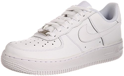 Nike Kids Air Force 1  White/White/White Basketball Shoe 5.5