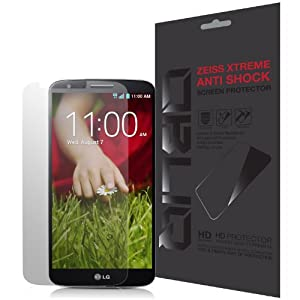 [Anti Shock] - Obliq LG G2 Screen Protector Zeiss Xtreme - Military Grade Extreme Break and Shock Protection - Verizon, AT&T, T-Mobile, Sprint, International, and Unlocked - Screen Cover for LG Optimus G2 D802 2013 Model