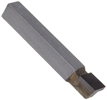 "American Carbide Tool Carbide-Tipped Square Nose Lathe Tool Bit, C Style, Neutral Hand, K68 Grade, 0.3125"" Square Shank, C 5 Size"