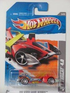 2011 Hot Wheels 227/244 - HW Video Game Heroes 5/22 - Jet Threat 4.0 (Red) - 1