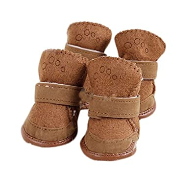 Ubesta Lovely warm Dog shoes cotton Pet shoes snow boots