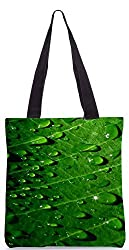 Snoogg Dew Drops Poly Canvas Tote Bag