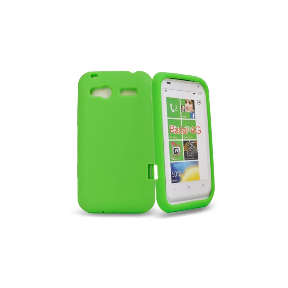 Mobile Palace  Green silicone case cover pouch for htc radar