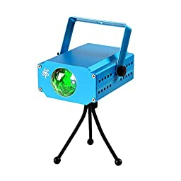 TSSS 3-Watt Green LED Water Wave Stage Light Ocean Effect Projector Lighting for Wedding Home Party Concert