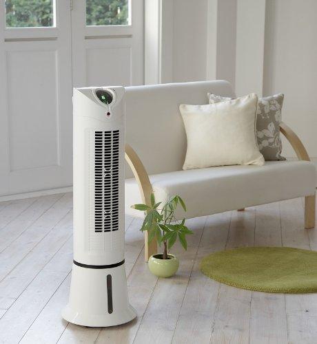 AL Colle スリムなタワー型冷風扇 【アクアクールファン】 ACF-205/W