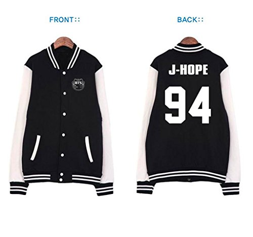 Fanstown BTS bangtan boy official same baseball hoodie sweater J-HOPE (Hope Merchandise compare prices)