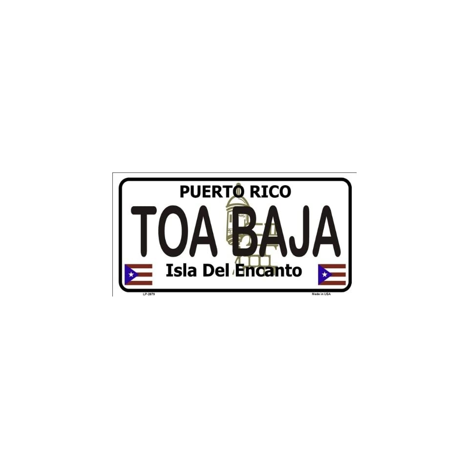 Toa Baja Puerto Rico Novelty State Background Metal Novelty License Plate Tag Sign