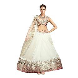 Krishna Emporia Women's White Designer Lehenga Choli