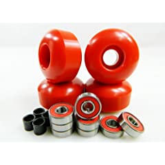 Buy Big Boy 52mm x 31mm Pro Skateboard Wheels (Red) + ABEC 7 Bearings + Spacers by Big Boy
