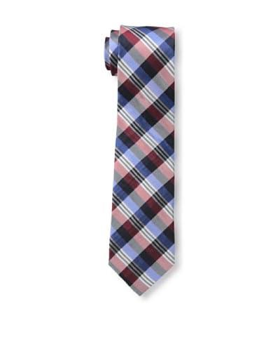 Ben Sherman Men's Preppy Plaid Tie, Navy