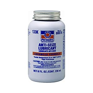 Permatex 80078 Anti-Seize Lubricant with Brush Top Bottle, 8 oz.