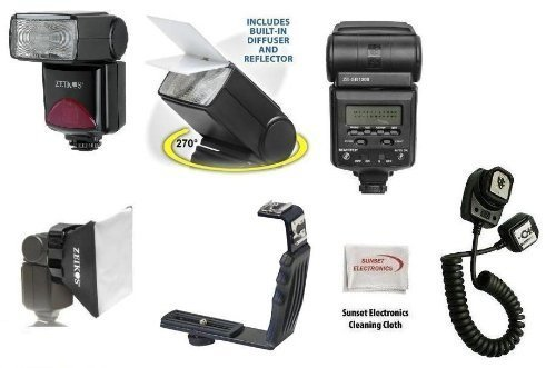 Best Value Professional Multi-Piece TTL Flash Package for the Nikon F100, F90, F90x, F80, F75, F70, F6, F5, F4-series, N8008, N8008s SLR Digital Cameras Package Includes 1 Professional TTL Power, Zoom & 270 Degree Swivel D-slr Flash, Professional Right Angle Flash Bracket, Off Camera Ttl Flash Cord, 1 Wide Angle Diffuser, 1 Bounce Reflector, & 1 Proffesional Soft Box Flash Diffuser