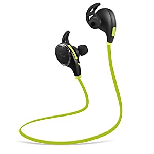 Bluetooth Headphones TaoTronics Wireless Earphones for Running with Mic (Bluetooth 4.1, atp-X, CVC 6.0 Noise Cancelling, Sweatproof) Black & Green