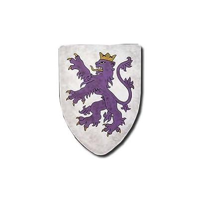 Rampant Lion Medieval Shield - 16 Gauge Steel Battle Ready - Purple - One Size