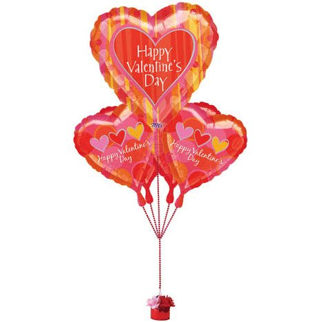 Valentine's Day Orange Crush Bouquet Of Balloons (1 per package) - 1