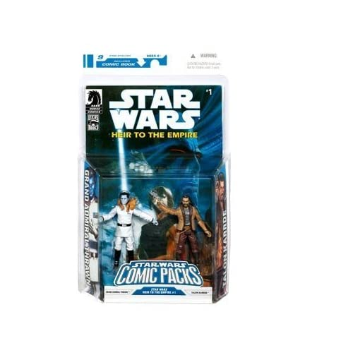 Star Wars Clone Wars Action Figure Comic 2-Pack Dark Horse: Heir to the Empire #1 Grand Admiral Thrawn and Talon by Hasbro (English Manual) jetzt kaufen