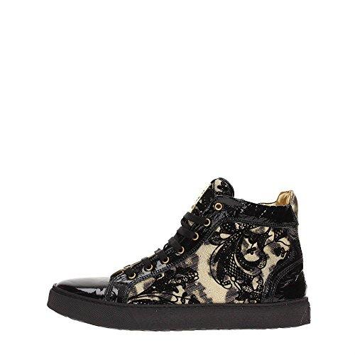 Roberto Cavalli CB40888 Sneakers Donna Pizzo Nero/Giallo Nero/Giallo 37