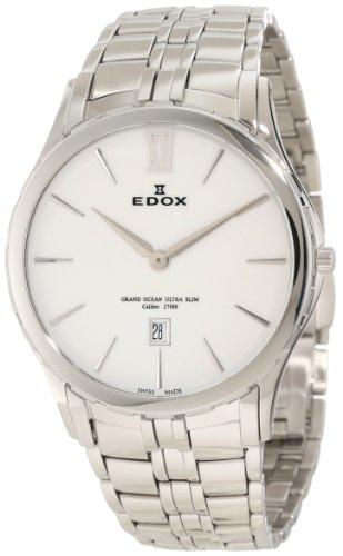 EDOX Grand Ocean Ultra Slim 27035 3 BIN - Reloj de cuarzo para hombre en acero