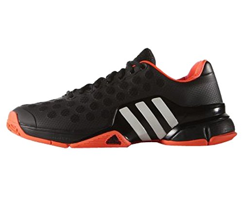 adidas Barricade 2015 Mens Tennis Shoes, Black/White/Orange, US12.5