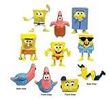 "SpongeBob SquarePants 8 - 1"" to 1.5"" FIGURES Figurine Set"