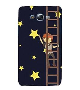 Fuson Premium Back Case Cover Man on ladder With Black Background Degined For Samsung Galaxy J7::Samsung Galaxy J7 J700F