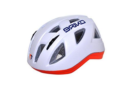 Briko Paint-Casco da bicicletta per bambini, bianco, taglia M