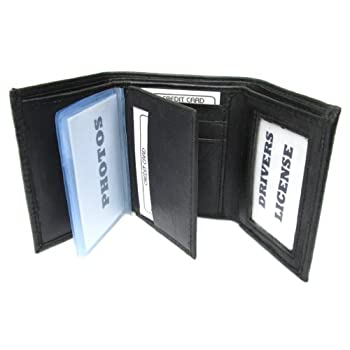 A Classic Wallet! * Finest Quality, soft and elegant, Genuine Lambskin Leather * Sturdy construction, but Compact and Lightweight (about 3 ounces) * Tri-fold; 9 Credit Card slots; 4-window insert for pictures, etc * Two Double Stitched Driver's ...