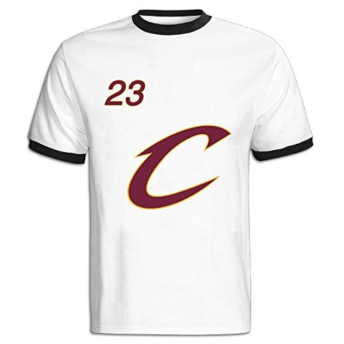 NHJH-GH Men's Cleveland Cavaliers 2016 23 King Champion Ringer T Shirts/Tee