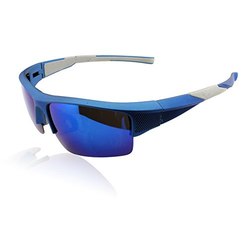 Duco Polarized Sunglasses Sports Glasses Eyewear For Golf Fishing Cycling-Unbreakable Frame 82330(Blue Frame)