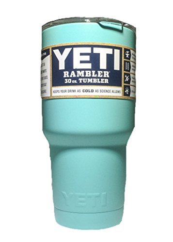 YETI Coolers Rambler Tumbler, Stainless Steel, 30oz, One Size (MATTE SEAFOAM TEAL BLUE)