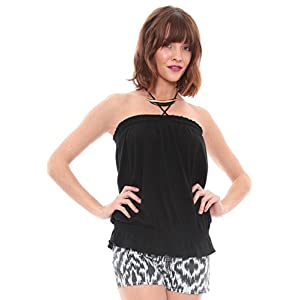Cinched Tube Top Black L