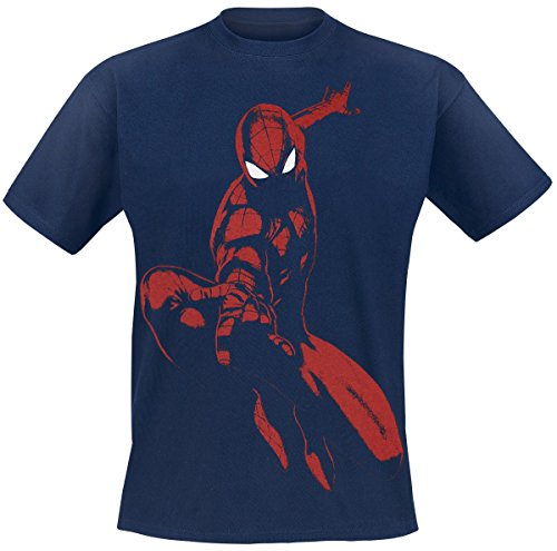 Spiderman Ultimate Spidey Shadow T-Shirt blu navy XXL