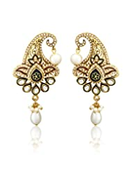Exclusive Boutique Pattern Designer Pearl Drop Earring By Zaveri Pearls