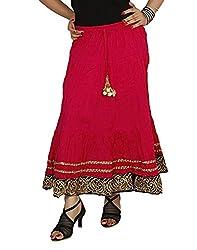 Sringar Women's Skirt (As2036_Red_Red_30)