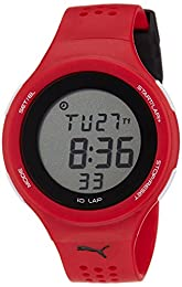 Puma Faas 200 Unisex Digital Watch with LCD Dial Digital Display and Red Plastic or PU Strap PU910931012