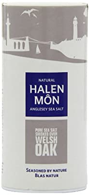 Halen Mon Sea Salt Smoked with Welsh Oak 2 x 100 g by Halen Mon The Anglesey Sea Salt Company