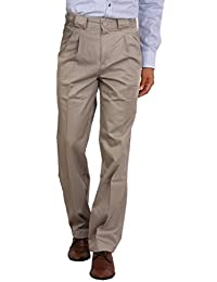 Bottom's Cotton Chinos Two Pleated Cartini Pista Colored Trouser For Men