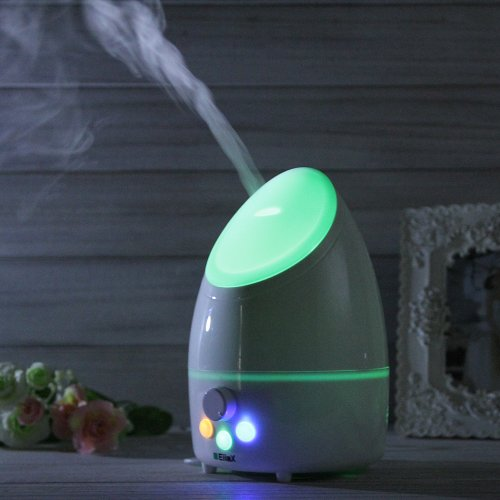 Eiiox 300Ml Aromatherapy Essential Oil Diffuser Ultrasonic Aroma Diffuser Air Humidifier Cool Mist , Pure White