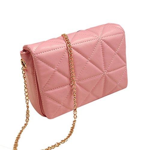 Women Candy PU Leather Crossbody Satchel Messenger Shoulder Handbag