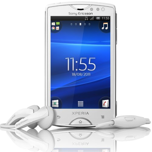 SONY+XPERIA+mini+ホワイト+ST15i+SIMフリー+PSE認可済み&国内変換アダプタ付
