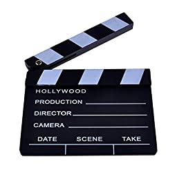 Neewer® 8\'\'X7\'\'/20cm X 17cm Wooden Director\'s Film Movie Slateboard Clapper Board
