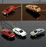 3 Stück Modellauto mit Beleuchtung LED, lighted cars, zu Spur Z