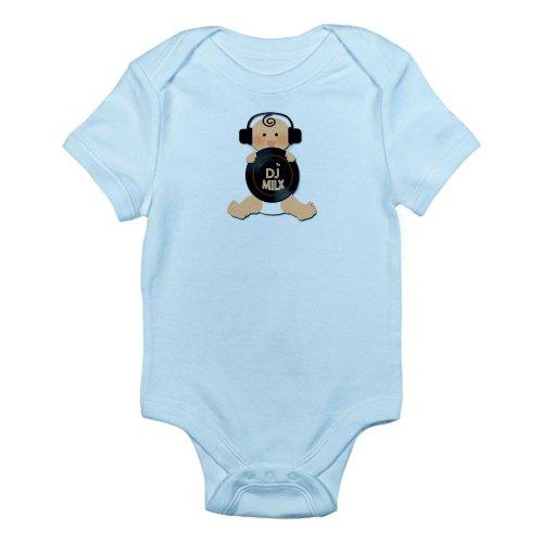 Cafepress Baby Dj With Headphones Infant Bodysuit - 3-6M Sky Blue